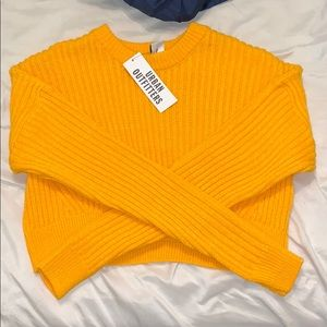 Urban outfitters yellow cropped sweater